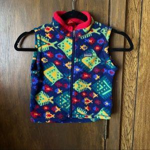 Patagonia Fleece Vest Toddler 3T Blue
